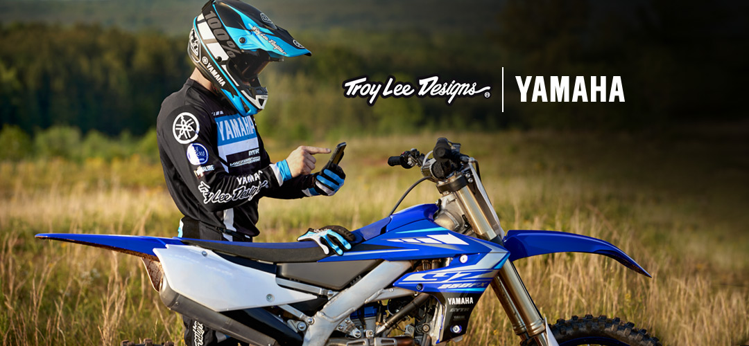 Troy Lee Designs Yamaha RS1 Tech Jacket Small Blue